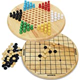 Toys of Wood Oxford Chinese Checkers and Gobang (Five in a Row) 2 in 1 board game