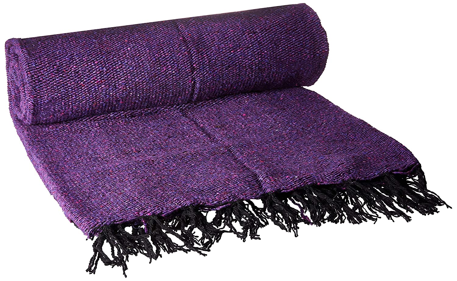 YogaDirect Solid Color Deluxe Mexican Yoga Blanket