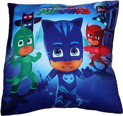 PJ máscaras Catboy Owlette y Gekko Familia Forma Cuadrada Almohada cojín 35 cm por BestTrend