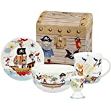 Queens Little Rhymes 4-Piece Pirates of the Seven Seas Breakfast Set Giftbox