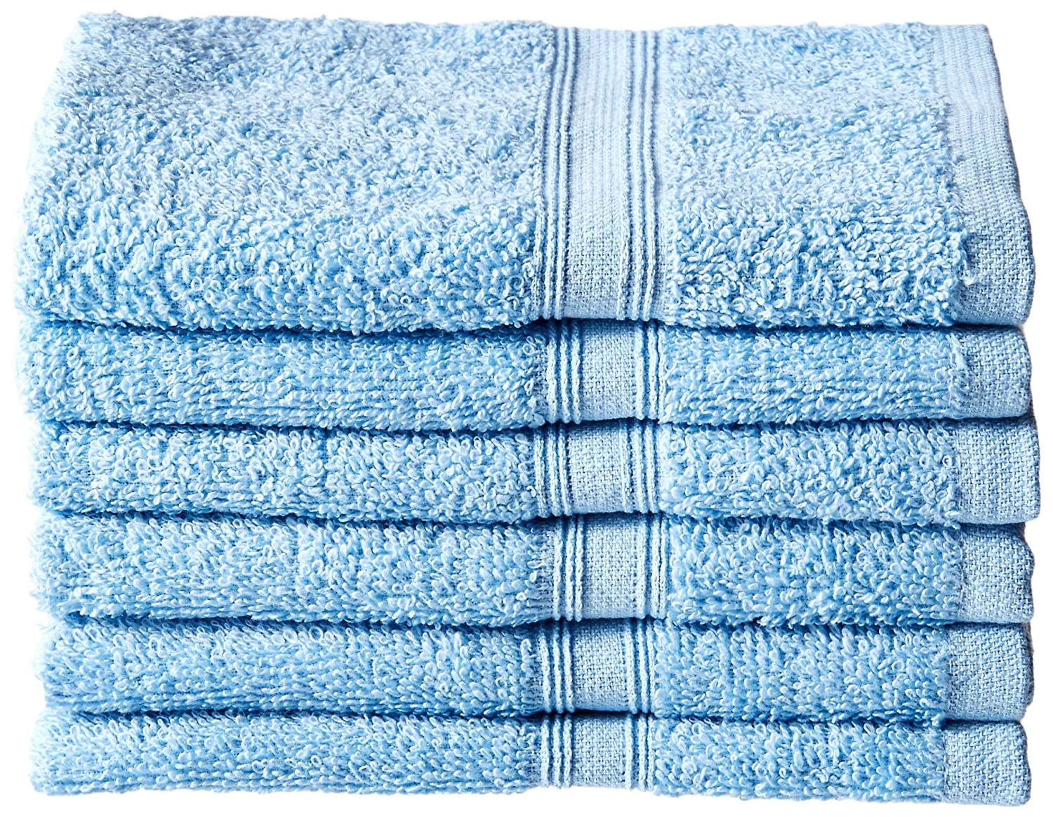Northpoint Solid 6 Pack Cotton Terry Washcloth 13 x 13 Daffodil Northpoint Trading Inc 156026