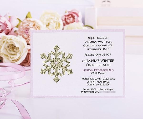 Amazon Com Winter Onederland Invitation First Birthday Onederland