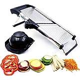 Mandoline Slicer, Vegetable Potato Slicer, Julienne Slicer, Onion Cutter, With Stainless Steel Adjustable Blade By Medove.