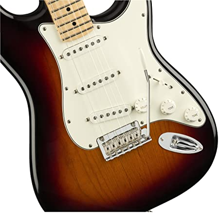 Amazon.com: Fender Player Stratocaster Electric Guitar - Maple Fingerboard - 3 Color Sunburst: Musical Instruments