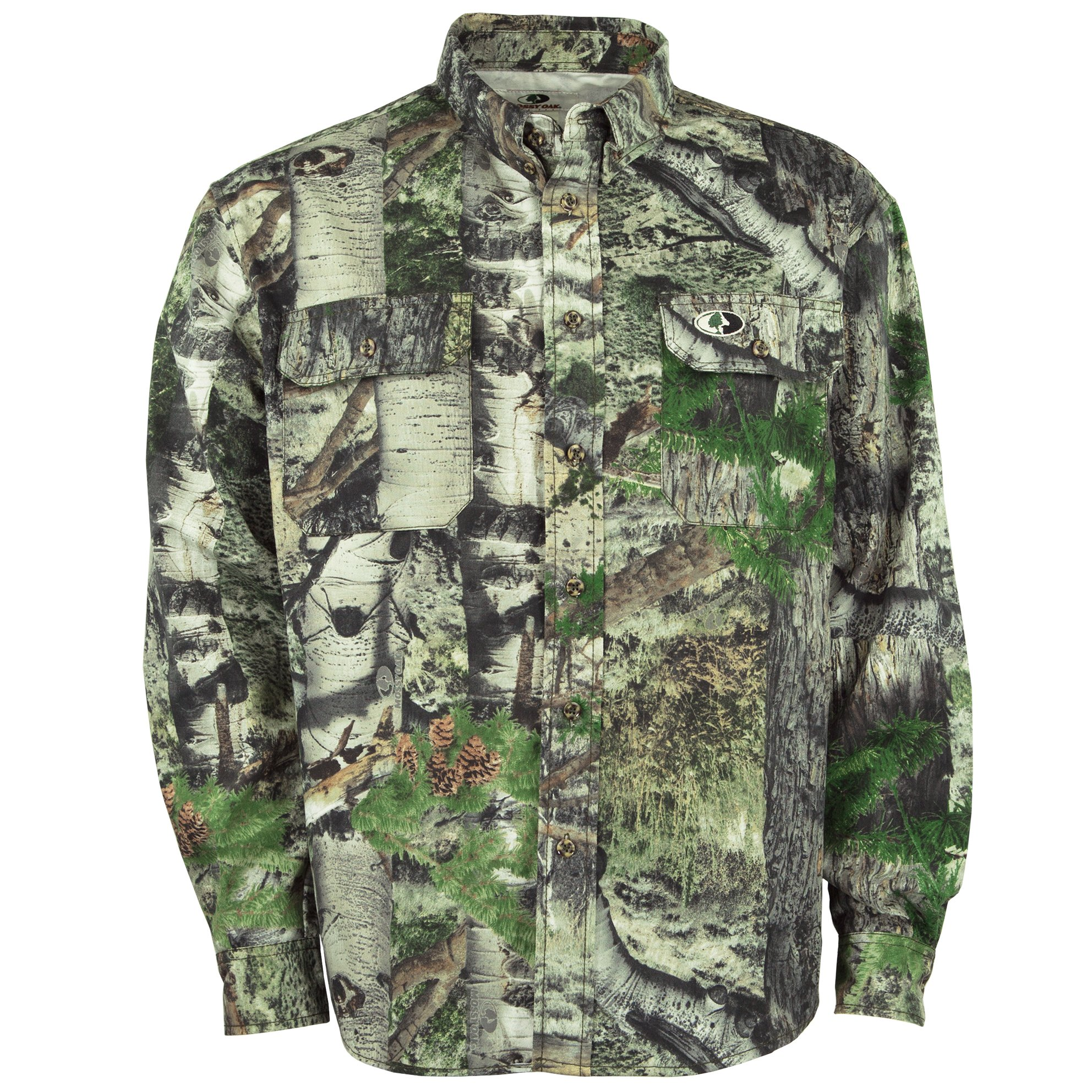 Mossy Oak Camouflage Cotton Mill Hunt Shirt, Mountain Country, 2X by Mossy Oak