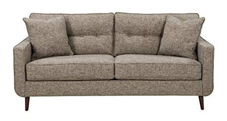 Benchcraft - Dahra Contemporary Upholstered Sofa - Jute Gray