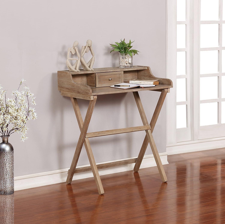 Linon Home Décor Griffin Gray Wash Folding Desk, Grey