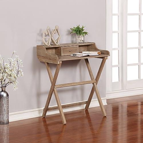 Linon Home D cor Griffin Gray Wash Folding Desk