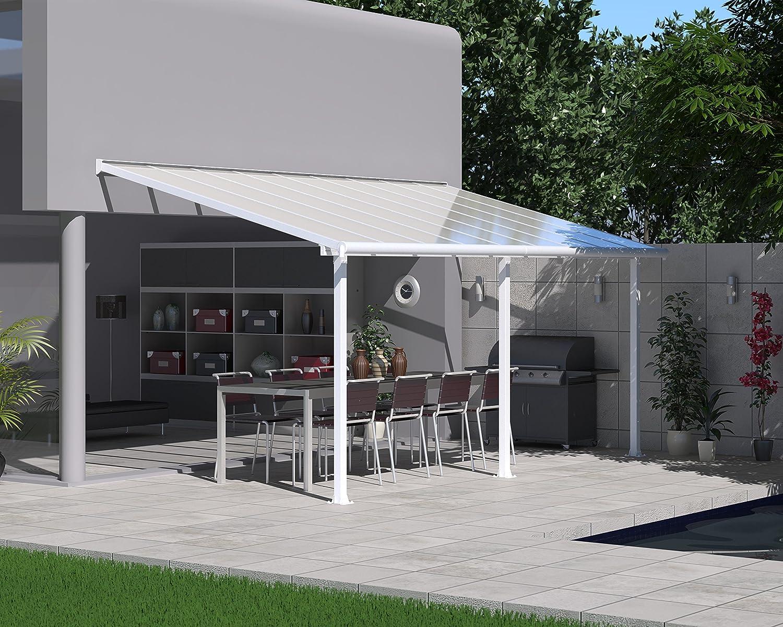 Palram Olympia Cubierta para terrazas, Blanco, 546x295x305 cm