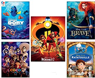 product image for Ceaco Disney/Pixar 5 in 1 Multipack Jigsaw Puzzles, (2) 300 Pieces, (2) 500 Pieces, (1) 750 Pieces, Multi-Colored