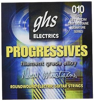 GHS Progressives Filament Grade Alloy - Cuerdas para guitarra eléctrica (10-52) - GHS: Cuerdas guitarra eléctrica Dave Mustaine: Amazon.es: Instrumentos ...