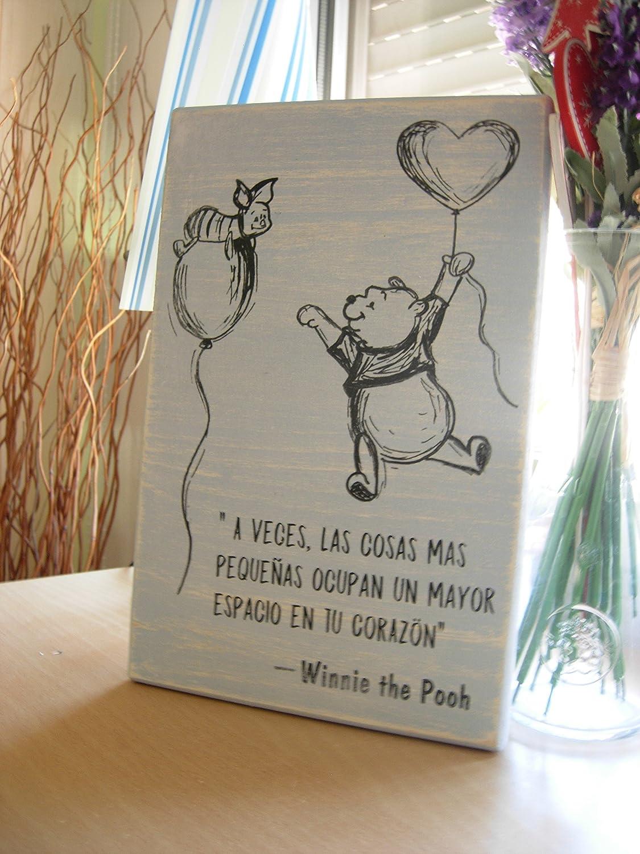 Letrero de Madera con Frases Motivadoras, Graciosas, Inspiradoras, Románticas. Cuadro Perfecto para Decorar espacios únicos y Simpáticos-Regalo-Decoración Infantil