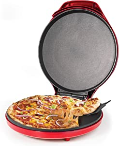 Betty Crocker Pizza Maker with Variable Temperature, 12 inch, Red (BC-4958CR)