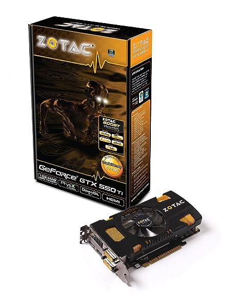 Zotac GeForce GTX 550 Ti - Tarjeta gráfica NVIDIA con CUDA (PCI-e, Memoria de 1 GB GDDR5, DVI, HDMI, 1 GPU)