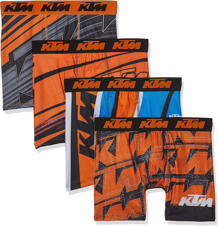 FREEGUN KTM Men Boxer Culotte (Pack de 4) para Hombre