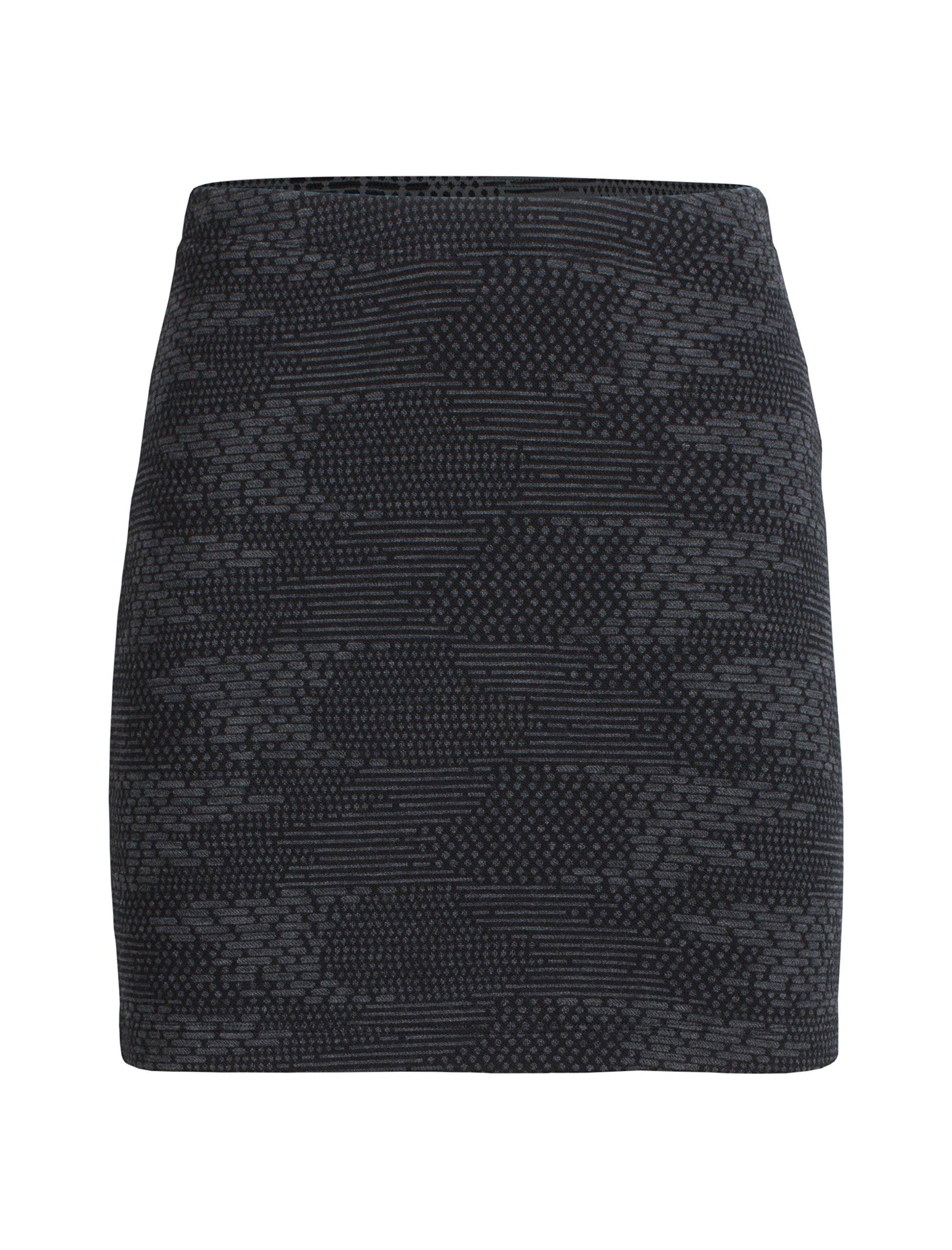 Icebreaker Merino Women's Affinity Skirt Flurry, Black/Jet Heather, Medium