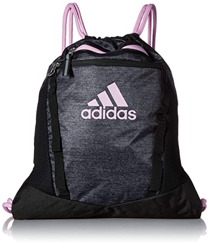 a4d9a2a18fb051 Amazon.com: adidas Rumble II Sackpack, Black Jersey/Black/Clear Lilac  Purple, One Size: Clothing