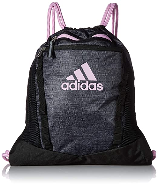 34974d29dd adidas Rumble II Sackpack, Black Jersey/Black/Clear Lilac Purple, One Size