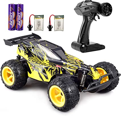Amazon Com Gamepath Remote Control Car 2 4ghz Fast Toy Car For Kids 1 22 High Speed Racing Rc Cars With 2 Rechargeable Batteries High Speed Rc Racing Cars 20 Km Hr Black And Yellow Toys