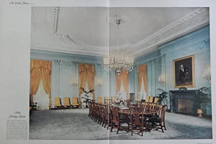 Amazon State Dinning Room The White House 50s Color