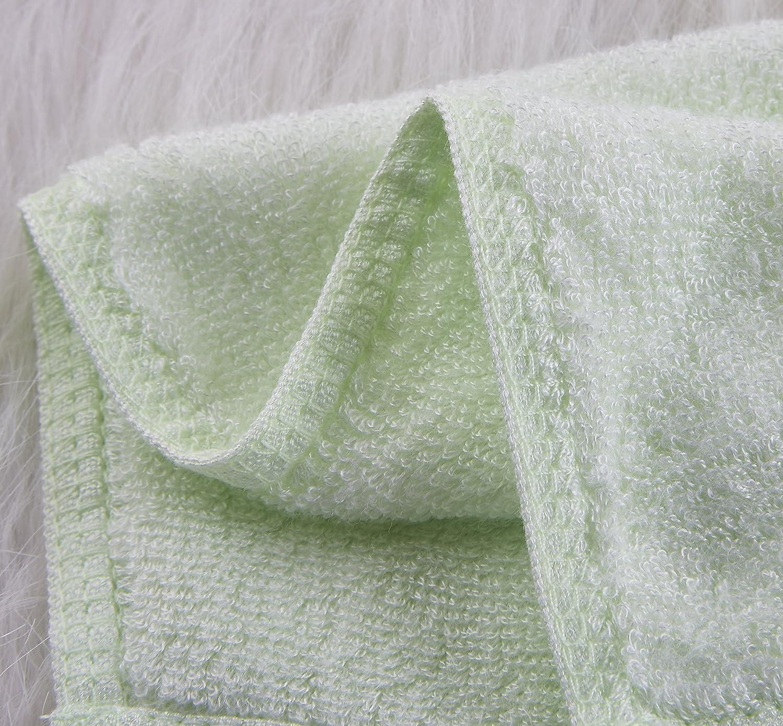 6er-Pack Bambus Baby Waschlappen ultra-weich Schonend auf empfindliche Haut f/ür S/äuglinge Nat/ürlich antibakterielle hypoallergene Kleinkinder super absorbierende Handt/ücher