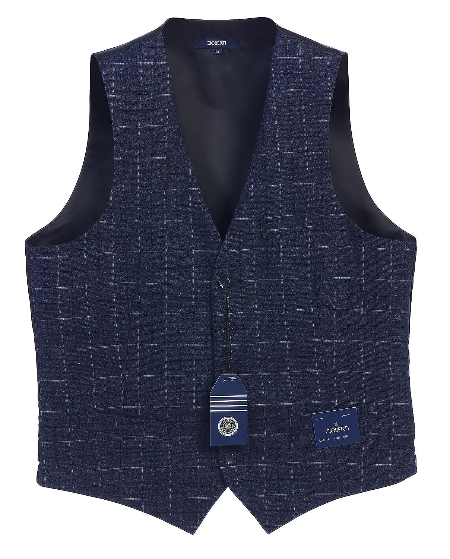 Gioberti Men's 5 Button Formal Tweed Suit Vest China VS-953