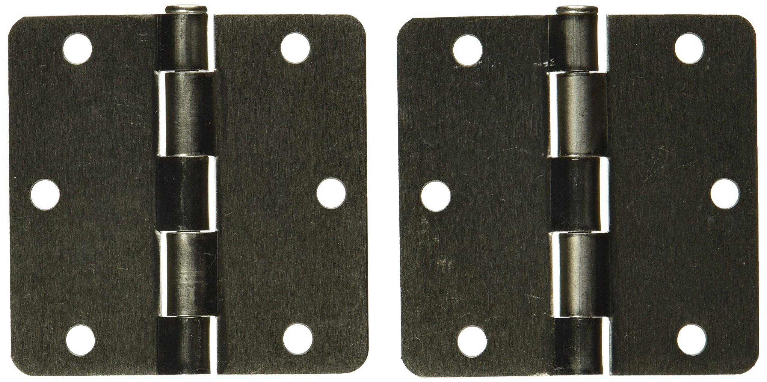 Stanley Hardware S808-204 V8030 Door Hinges in Satin Nickel, 2 pack
