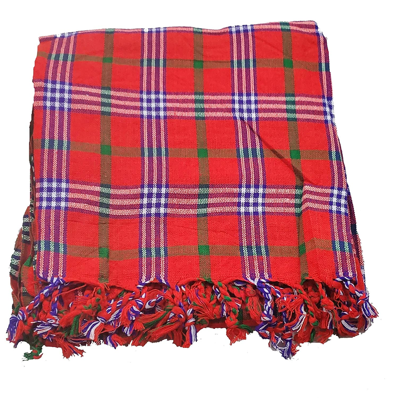 White and Purple Maasai Masai Shuka Shawl Scarf Beach Wrap Cover Up Tablecloth Red Green