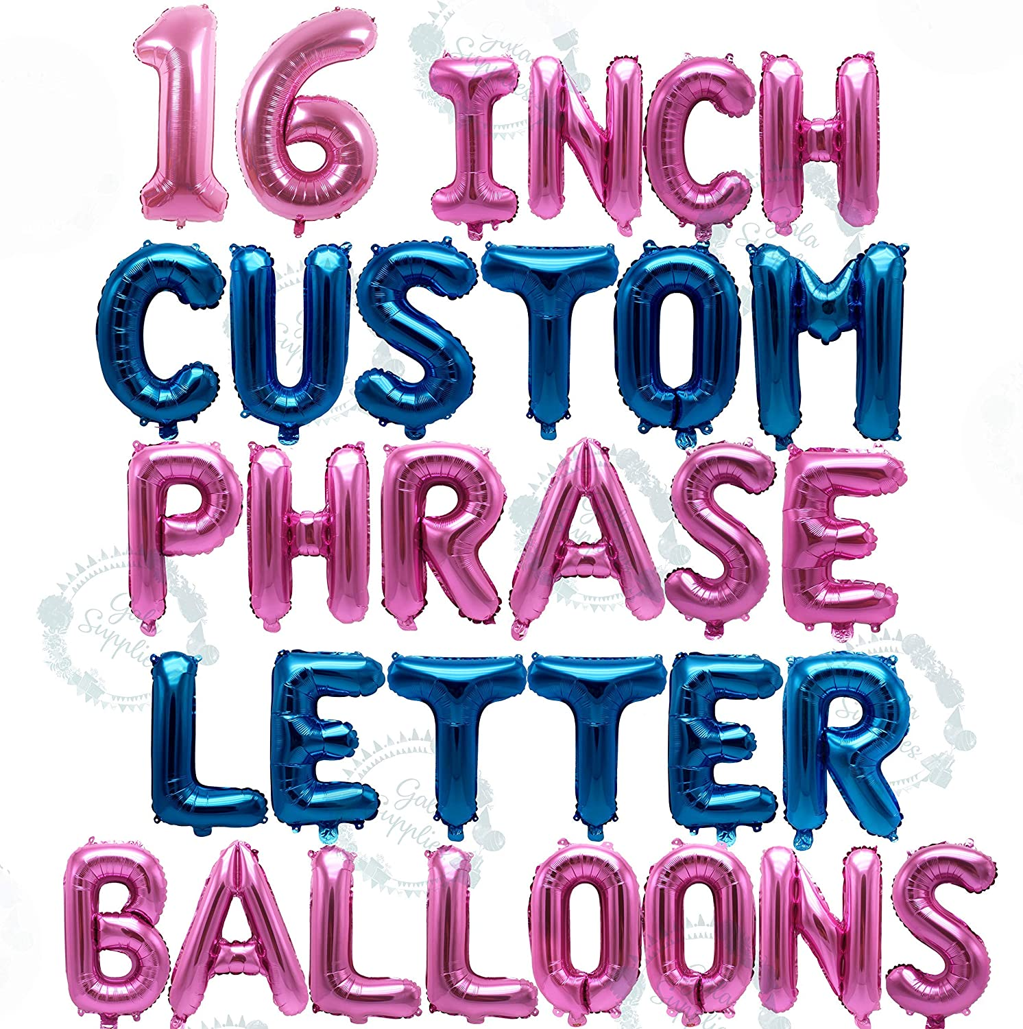 Rose Gold Balloons Gold Silver Letters Party Custom Name Foil Balloons
