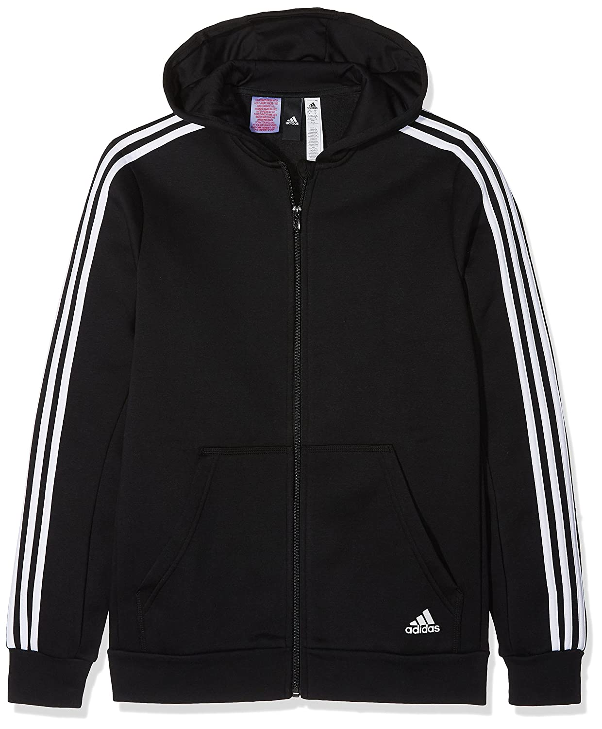 adidas Boys essentials 3 stripe hooded jacket, Boys', Essentials 3-Streifen Boys' ADIEY|#adidas
