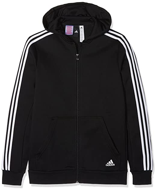 a2eaf5285ed adidas Children s Essentials 3-stripes Hooded Jacket Kids  Amazon.co.uk   Sports   Outdoors