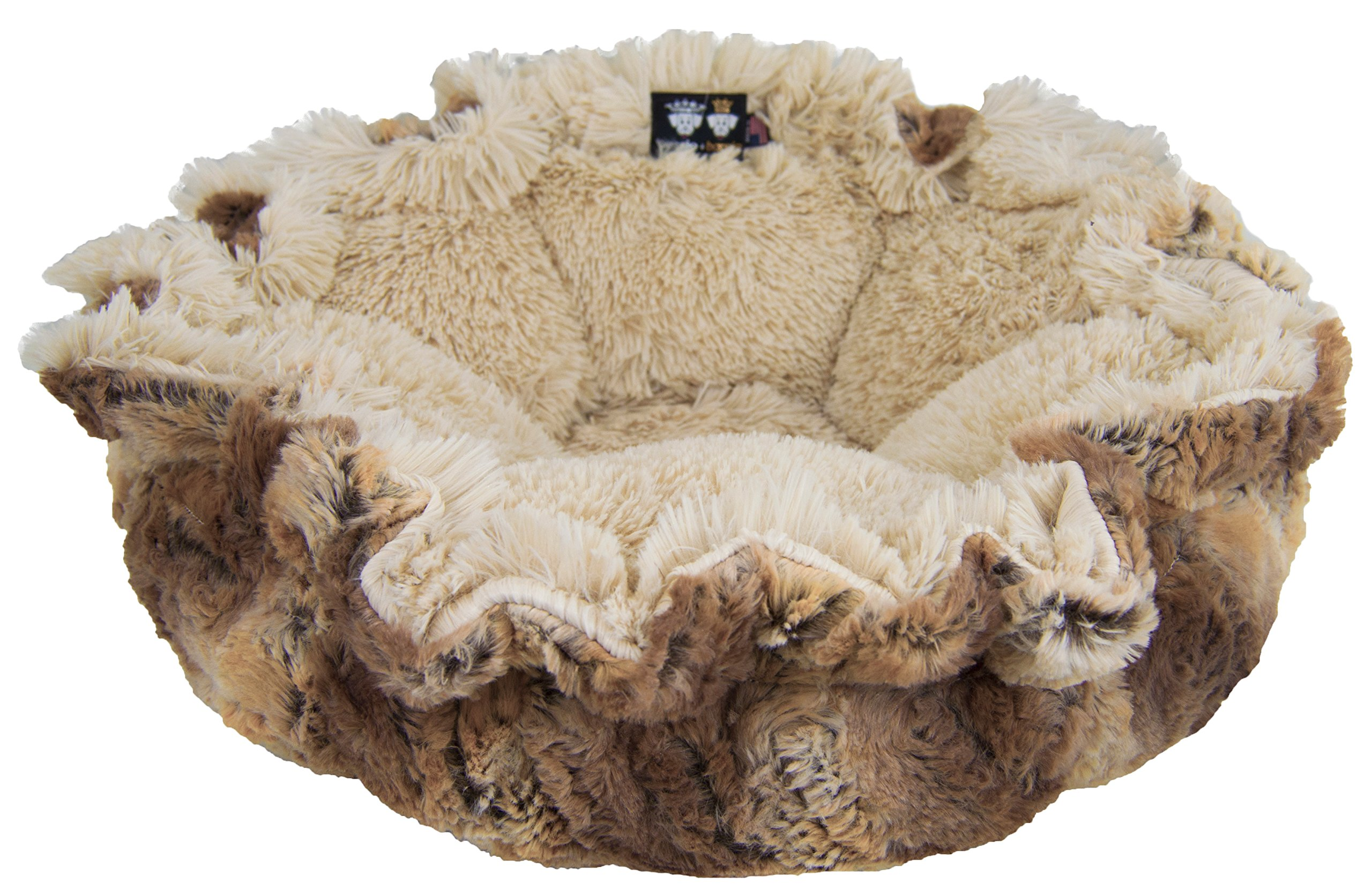 Bessie and Barnie Ultra Plush Simba/Blondie Luxury Shag Deluxe Dog/Pet Cuddle Pod Bed 1
