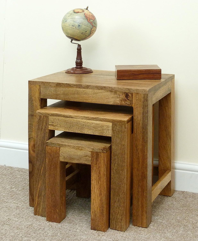Mercers Furniture Mantis Nest of 3 Tables - Mangowood LM010