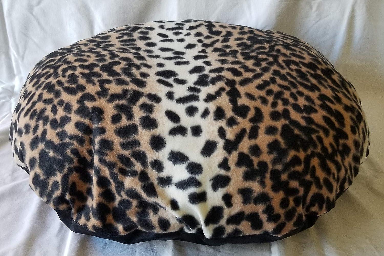 ObiBed Washable Water Repellent Dog Bed Leopard Fleece