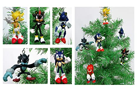 sonic 6 piece christmas ornament set featuring sonic shadow werehog metal sonic - Sonic Hours Christmas Day