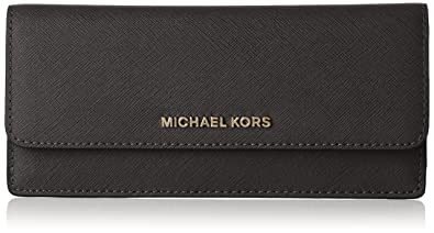 bdd2f1d58ecc Image Unavailable. Image not available for. Color: Michael Kors Jet Set  Travel Wallet in Black