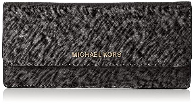 Michael Kors - Jet Set Travel Flat, Carteras Mujer, Schwarz (Black), 2x9x20 cm (B x H T): Amazon.es: Zapatos y complementos