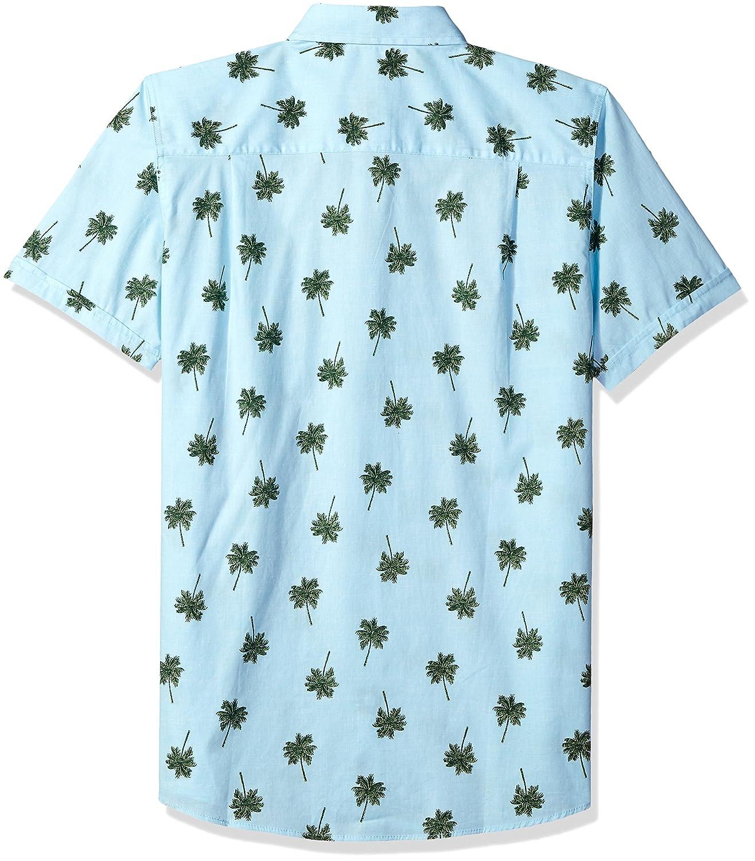 Haggar Mens Short Sleeve Micrographic Prints Woven Shirt,,