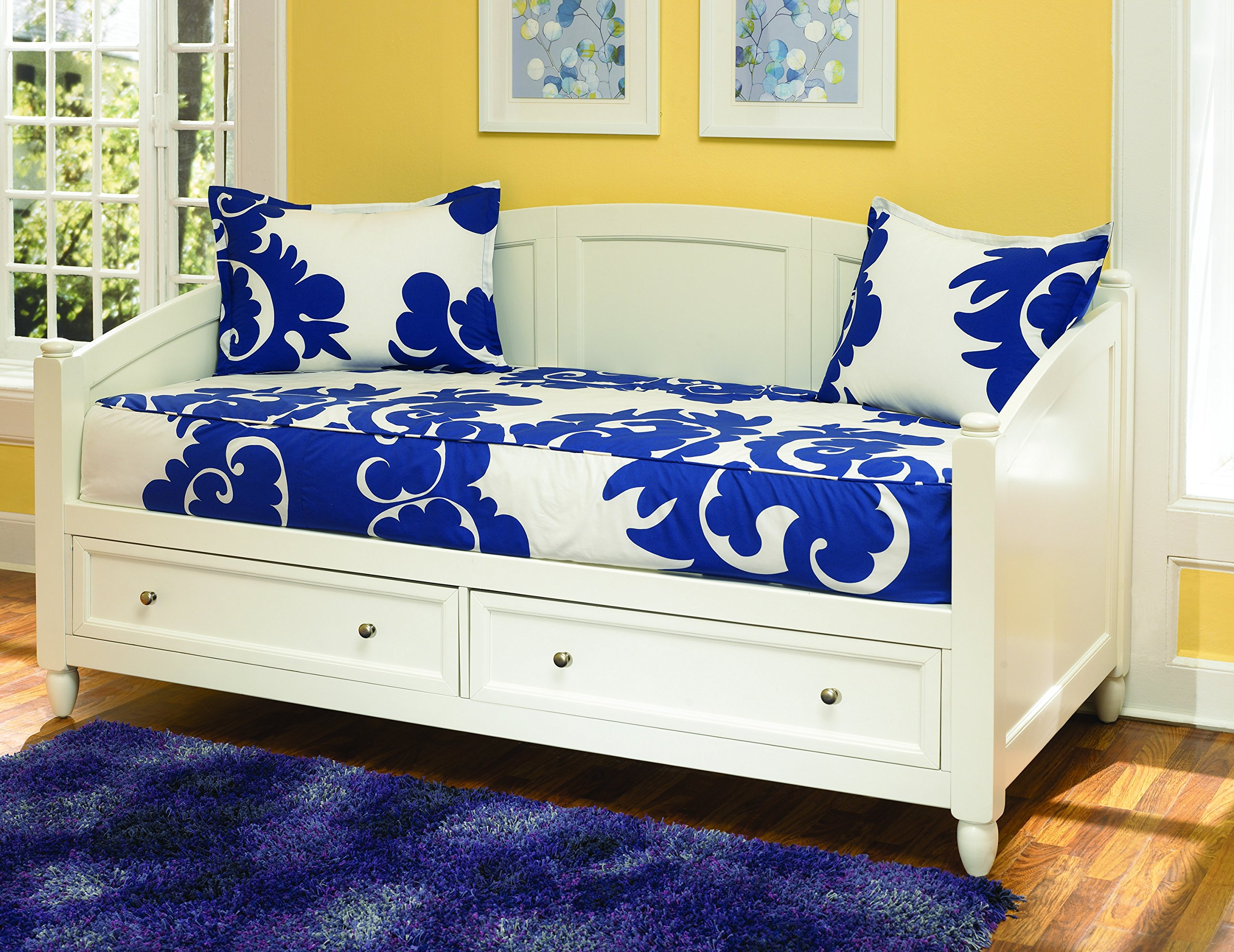 Home Styles 5530-85 Naples Daybed with Storage, White Finish