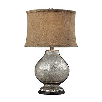 Dimond Lighting D2239 Antler Hill Table Lamp, Antique Mercury Glass Finish