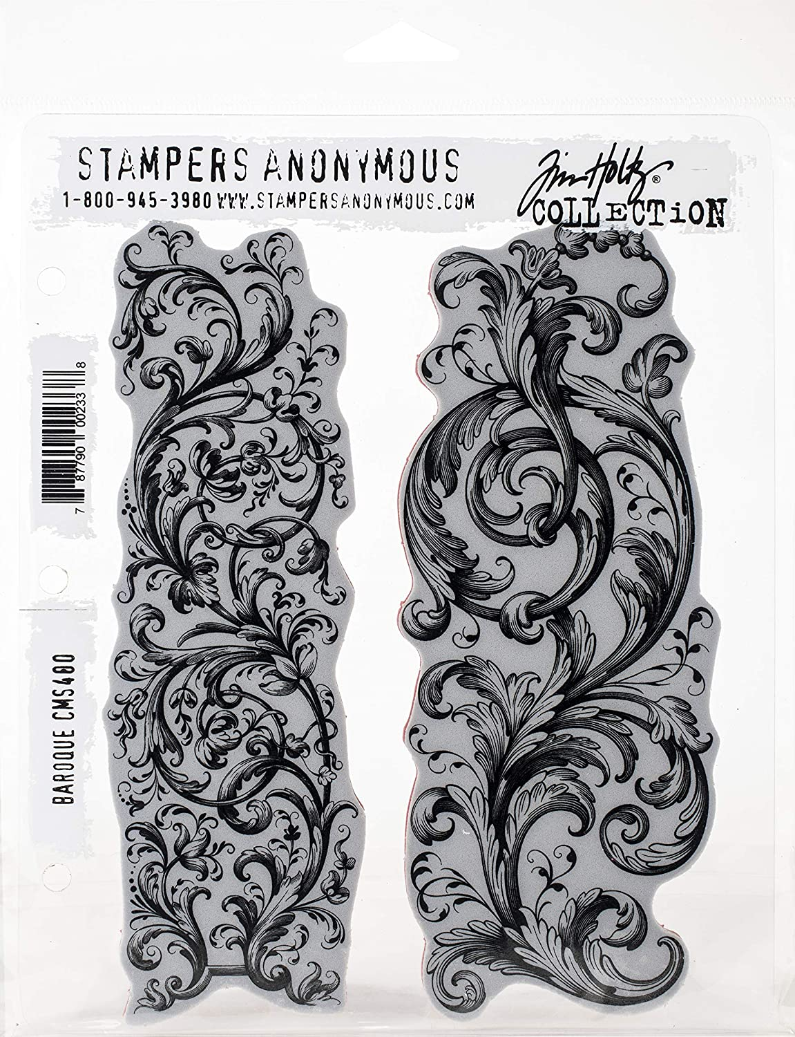 Tim Holtz - Stampers Anon CLING RBBR STAMP SET BAROQUE