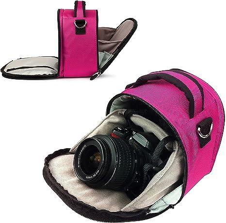 Vangoddy – diseñado Magenta rosa pequeña dslr & SLR bolsa de la ...