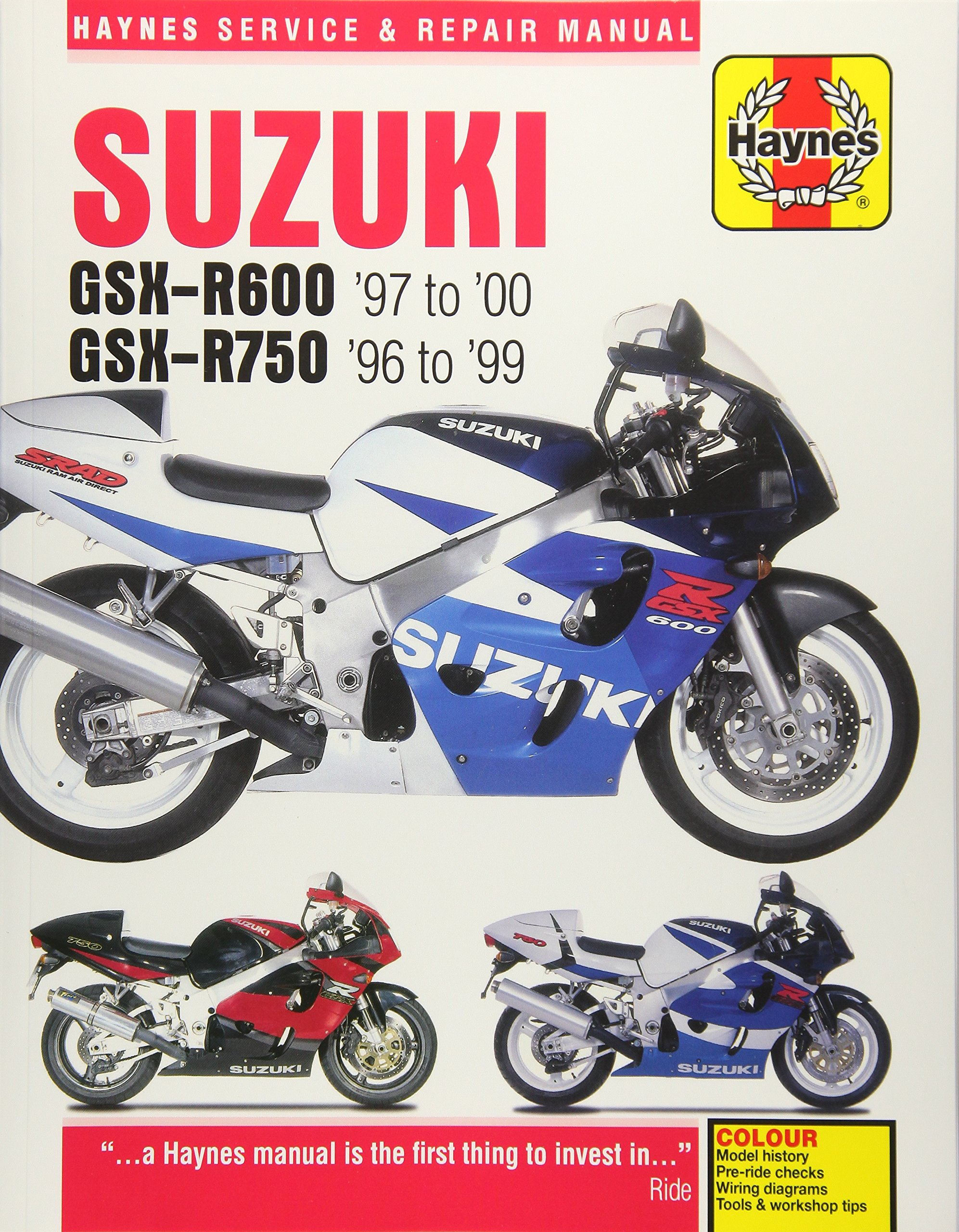 Suzuki GSX-R600 '97 to '00 - GSX-R750 '96 to '99 (Haynes Service & Repair  Manual): Matthew Coombs: 9781785213021: Amazon.com: Books