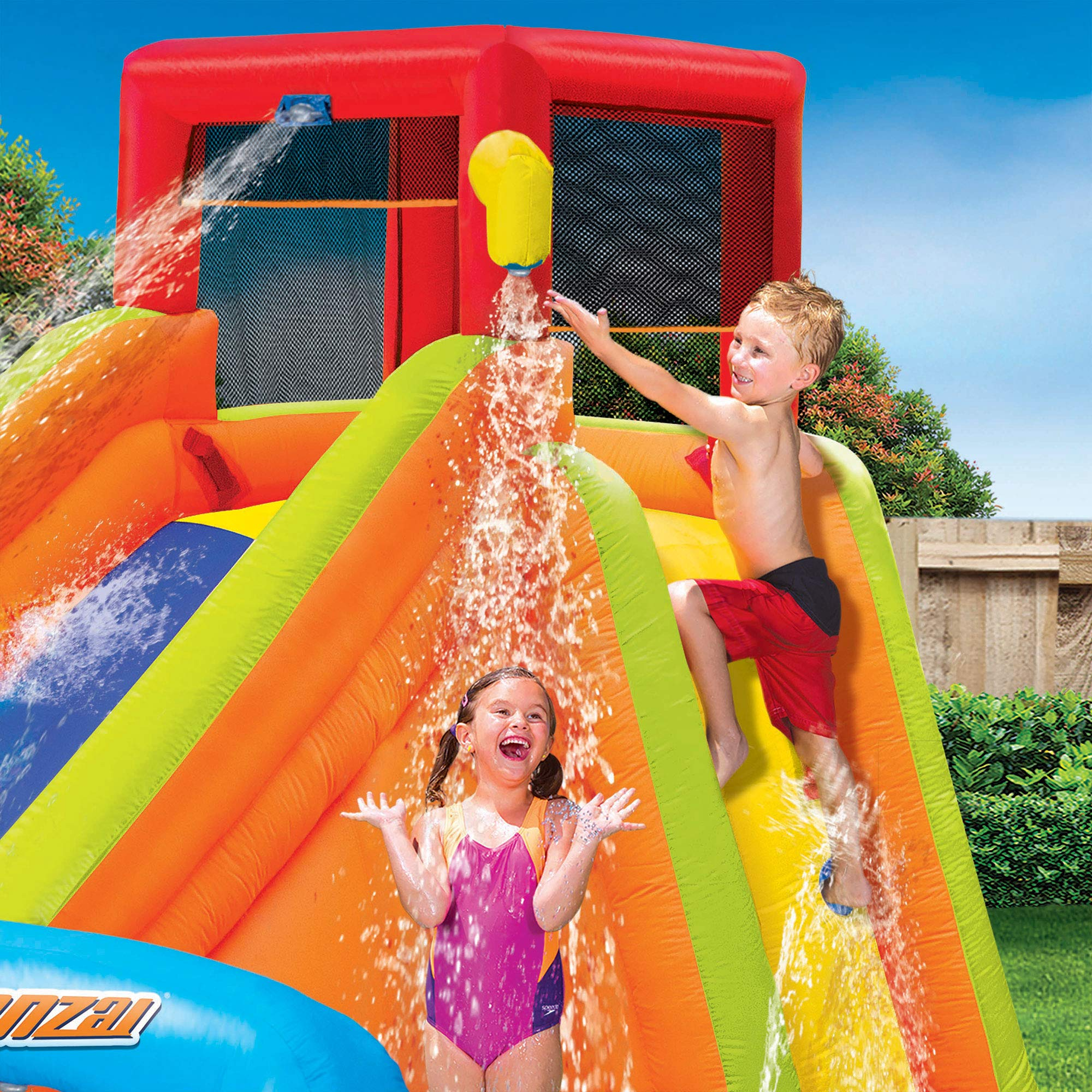BANZAI Lazy River Inflatable Outdoor Adventure Water Park Slide and Splash Pool by BANZAI (Image #3)