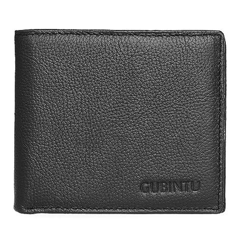 18303f11c80 Hombre Carteras - ManChDa Billetera de cuero Bloqueo de RFID Porta tarjetas  Centro compacto Cartera giratoria