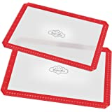 Bakeitfun Standard Silicone Baking Mats Cut Corners Double Set, 2 16.5 X 11.6 Inches, Heat Resistant, Reusable, Multipurpose, Non-stick Surface, Made Of Professional German Grade Materials, Red