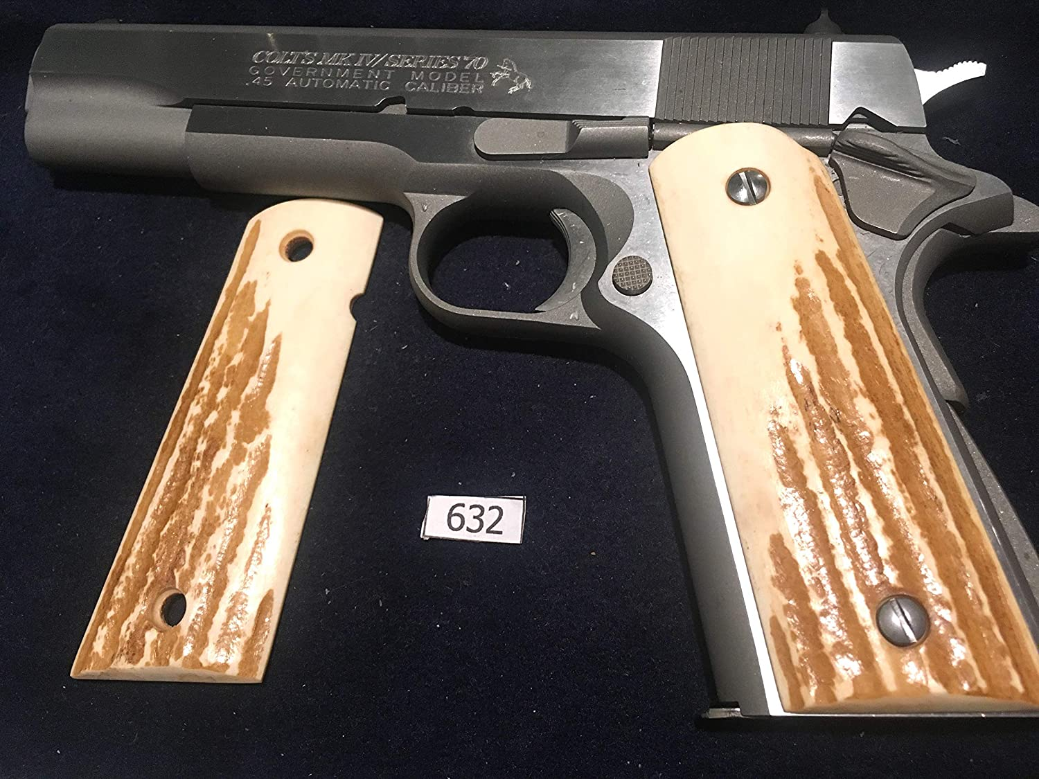 1911 Grips Genuine Elk Stag,FITS COLT,KIMBER,SIG,PARA,RUGER,TAURUS,SPRINGFIELD,REMINGTON,WILSON,ACE,ITHACA,CLONES