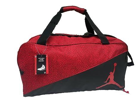 Nike Jordan Jumpman Sports Elemental Duffel Bag Gym Red