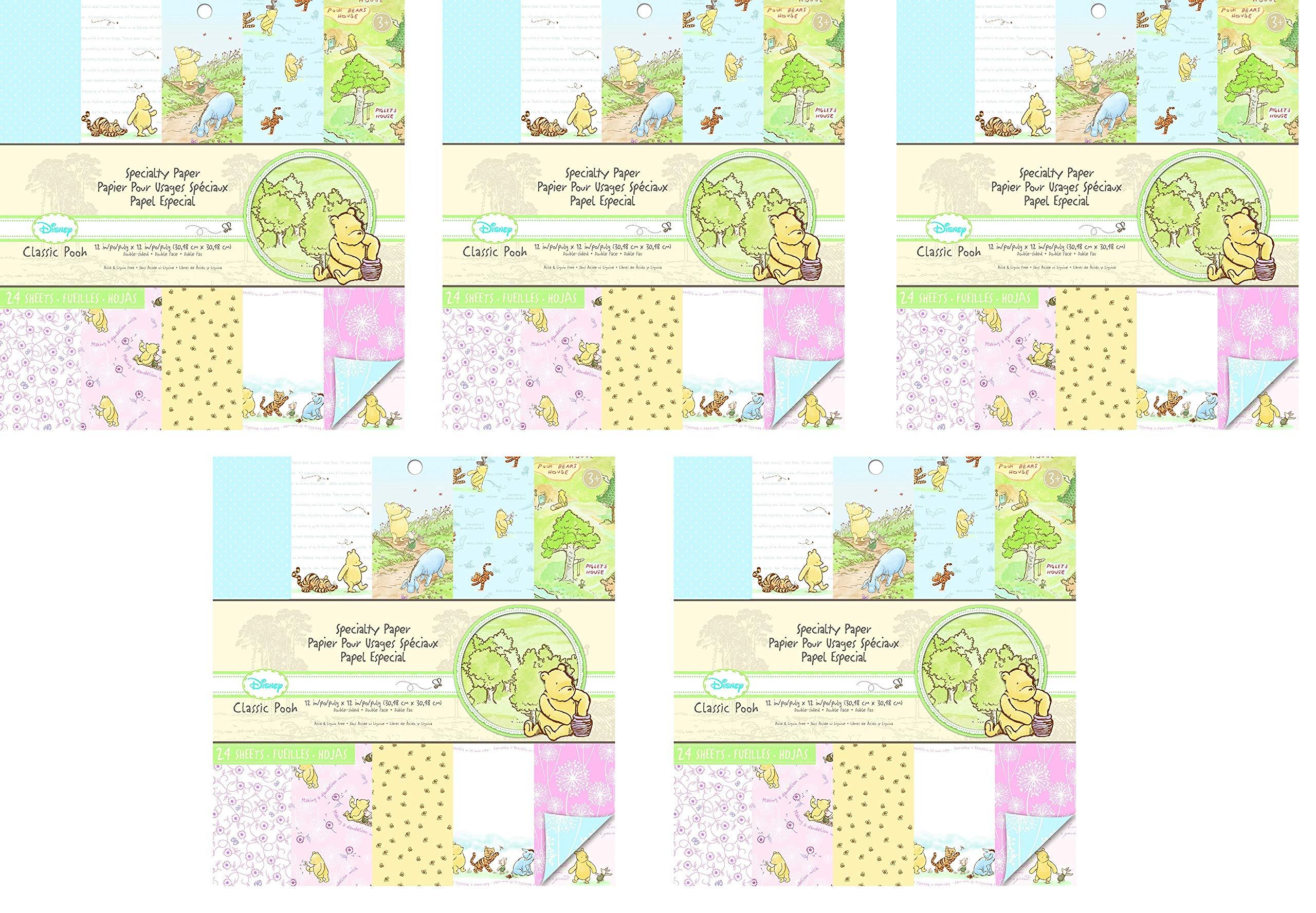 EK Success Brands Disney Specialty Paper Pad, Classic Pooh (Fivе Расk)