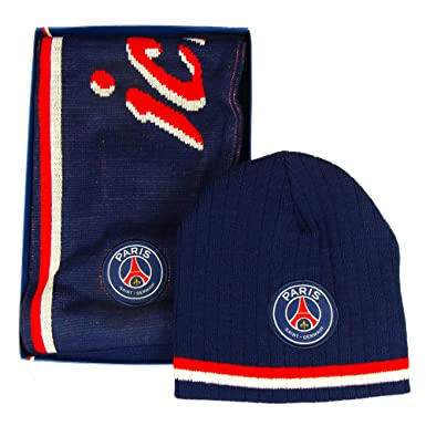a78b15bc117 Image Unavailable. Image not available for. Colour  PSG - Official  PSG Fan   Gift Box with Winter Hat and Scarf - Blue